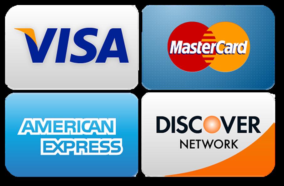Discover Mastercard American Express Visa